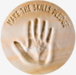 Logo of the skills pledge group. We actively encourage employees to gain employability by gaining skills and qualifications.